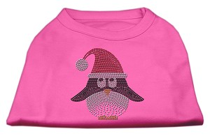 Santa Penguin Rhinestone Dog Shirt Bright Pink Sm (10)